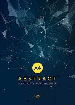 Fond de maille abstraite avec des cercles, des lignes et des formes triangulaires disposition de conception pour votre entreprise.