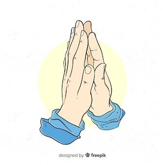 Fond de mains en prière