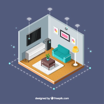 Fond de maison intelligente