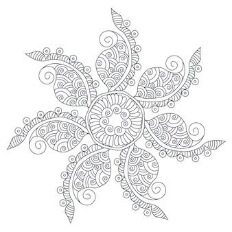 Fond de manadala floral