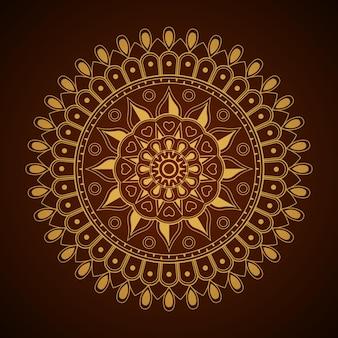 Fond de mandala abstrait doré