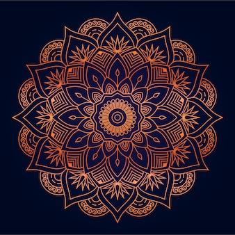 Fond de mandala abstrait moderne avec arabesque doré arabe style islamique oriental