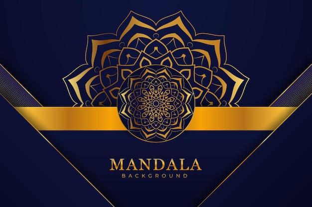 Fond de mandala arabe de luxe
