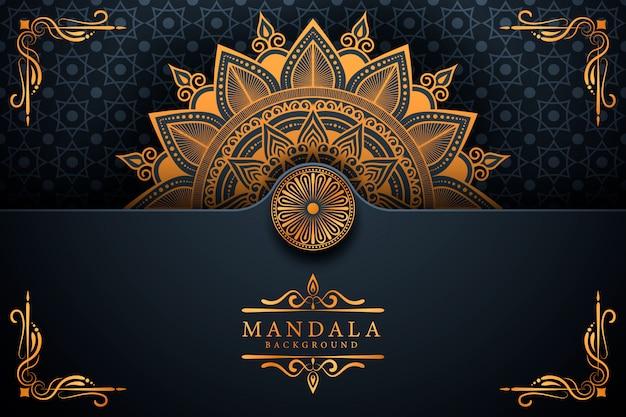 Fond de mandala arabesque de luxe créatif