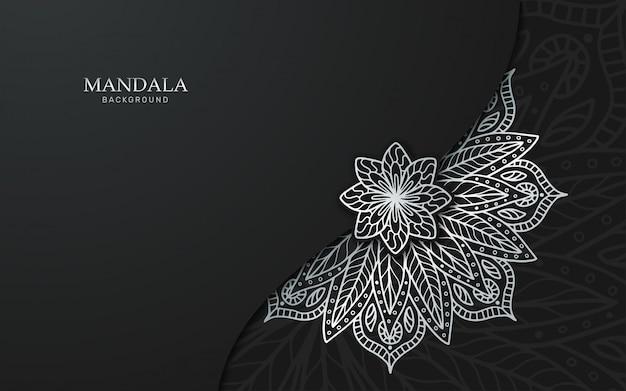 Fond de mandala argent de luxe