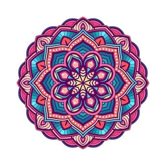 Fond de mandala coloré de cercle