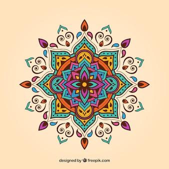 Fond de mandala coloré