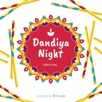 Fond de mandala dandiya