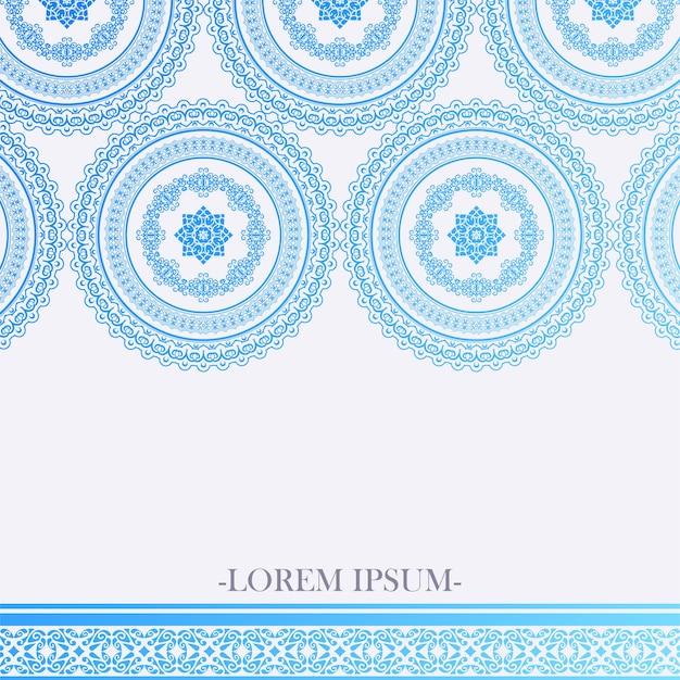 Fond de mandala dégradé bleu