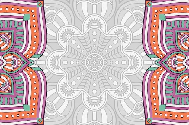 Fond de mandala dessiné à la main