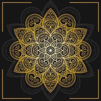 Fond de mandala doré décoratif