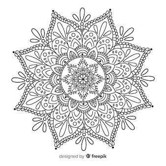 Fond de mandala élégant dans le style linéaire