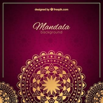 Fond de mandala élégant avec un style doré