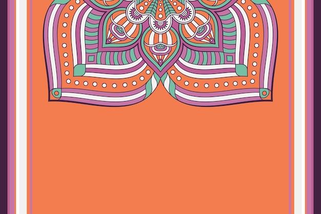 Fond De Mandala Floral Coloré Vecteur Premium
