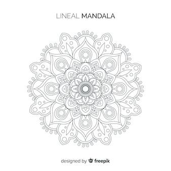 Fond de mandala linéaire