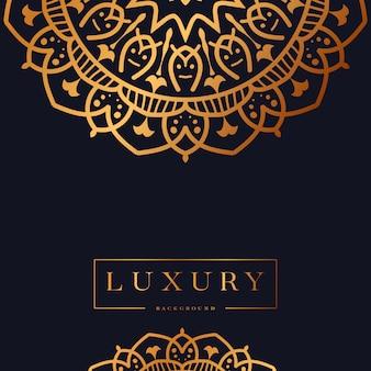 Fond de mandala de luxe avec arabesque doré design style islamique arabe