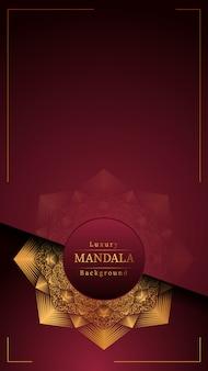 Fond de mandala de luxe créatif avec décoration arabesque dorée