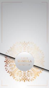 Fond de mandala de luxe créatif avec motif arabesque doré