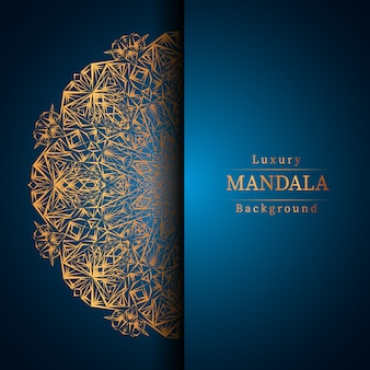 Fond de mandala de luxe créatif avec vecteur de motif arabesque doré
