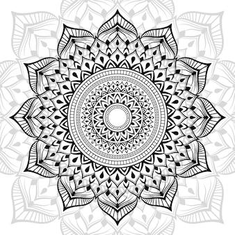 Fond de mandala de luxe avec décoration arabesque dorée style oriental islamique arabe
