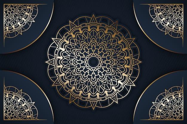 Fond de mandala de luxe détaillé