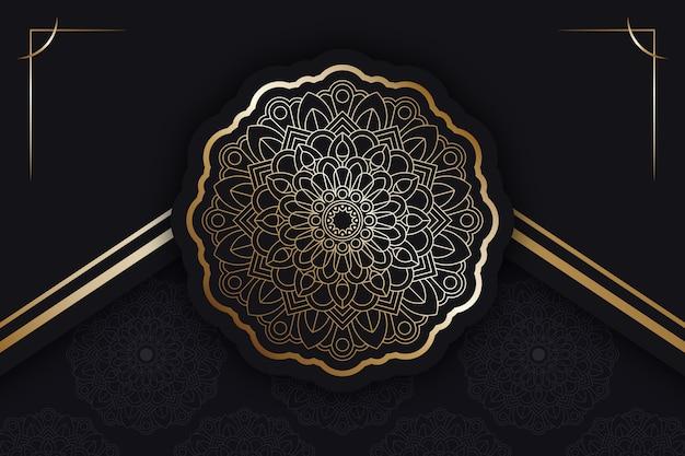 Fond de mandala de luxe avec détails