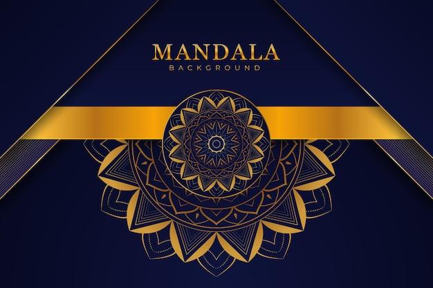 Fond de mandala de luxe élégant