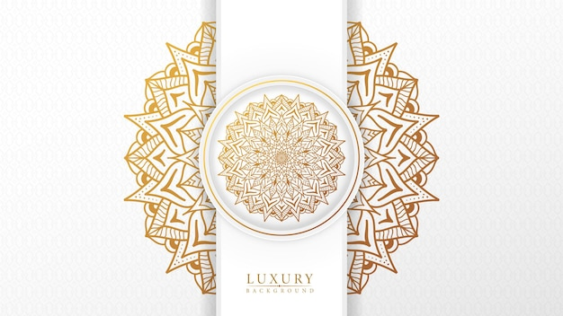 Fond de mandala de luxe islamique avec style de motif