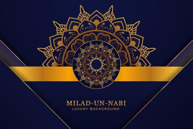Fond de mandala de luxe milad-un-nabi