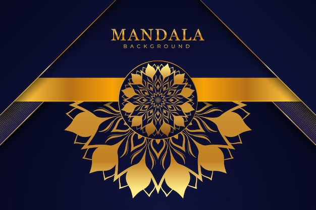 Fond de mandala de luxe moderne