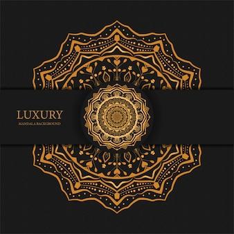 Fond de mandala de luxe avec motif arabesque doré design arabe islamique