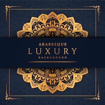Fond de mandala de luxe avec motif arabesque doré style oriental islamique arabe vecteur premium