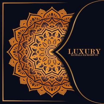 Fond de mandala de luxe ornement