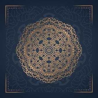 Fond de mandala de luxe pour la couverture du livre