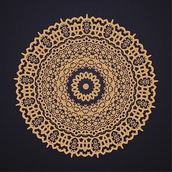 Fond de mandala de luxe pour couverture de livre, invitation de mariage