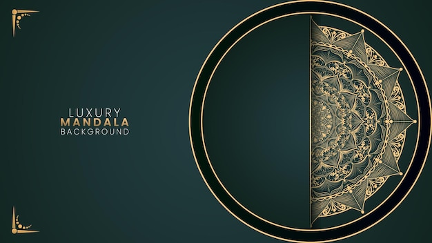 Fond de mandala de luxe vert vecteur