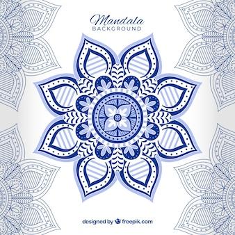 Fond de mandala moderne avec un style coloré
