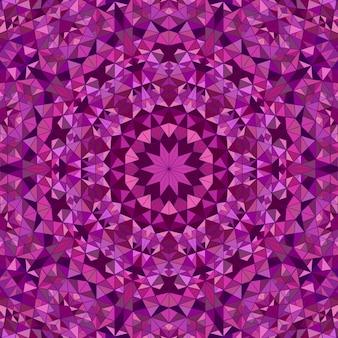 Fond de mandala mosaïque ronde polygonale dynamique