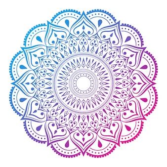 Fond de mandala avec motif arabesque coloré style oriental islamique arabe