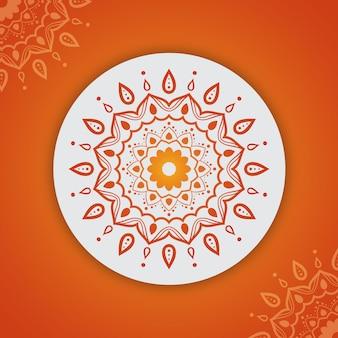 Fond de mandala avec motif d'arabesques dégradé coloré