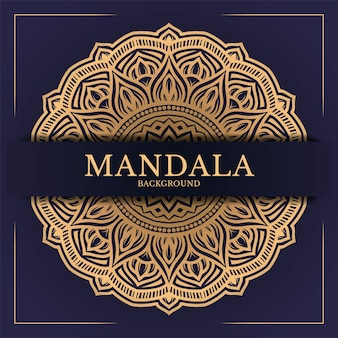 Fond de mandala motif circulaire de luxe