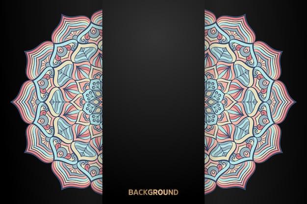 Fond de mandala motif ethnique