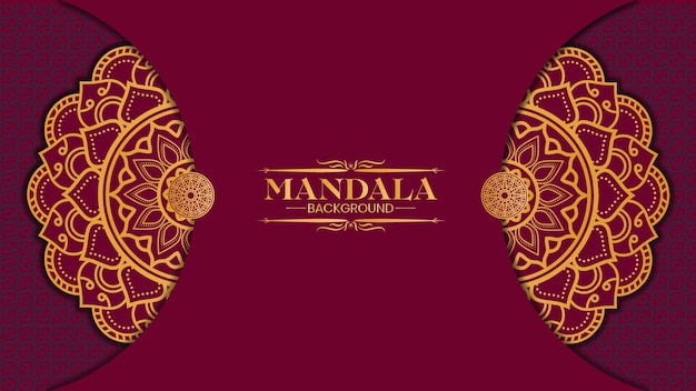 Fond de mandala or de luxe