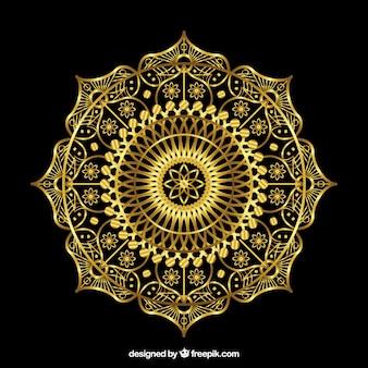 Fond de mandala d'or