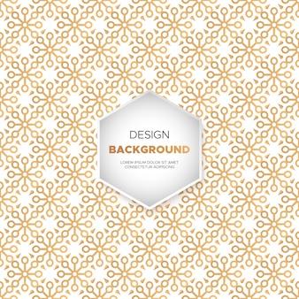 Fond de mandala d'ornement de luxe en couleur or