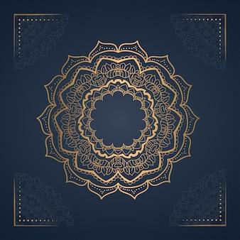 Fond de mandala d'ornement pour invitation de mariage