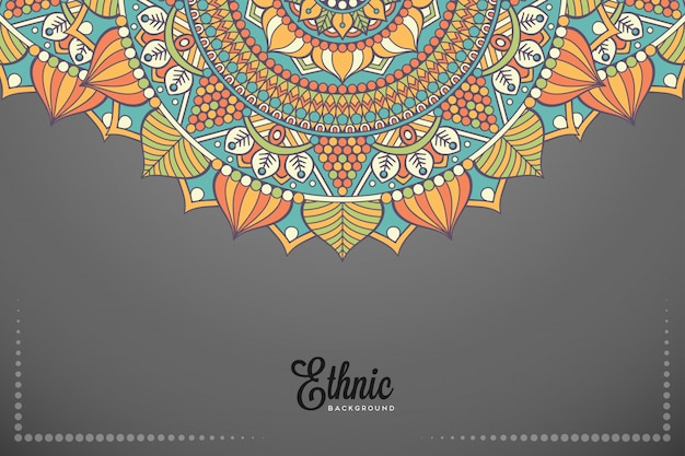 Fond de mandala ornemental de luxe en couleur or