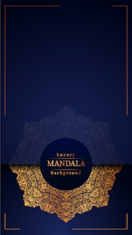 Fond de mandala ornemental luxe créatif