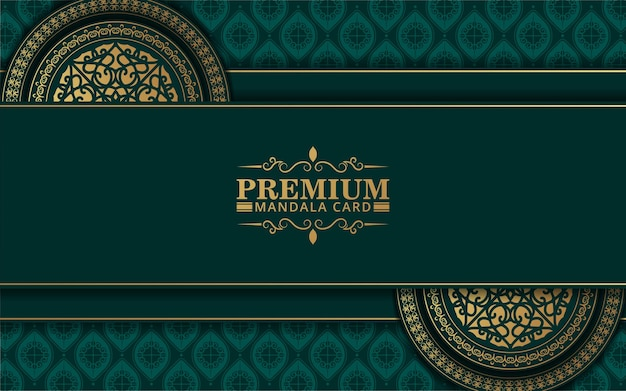Fond de mandala ornemental de luxe avec style de motif oriental islamique arabe
