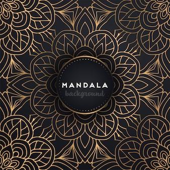 Fond de mandala ornemental de luxe